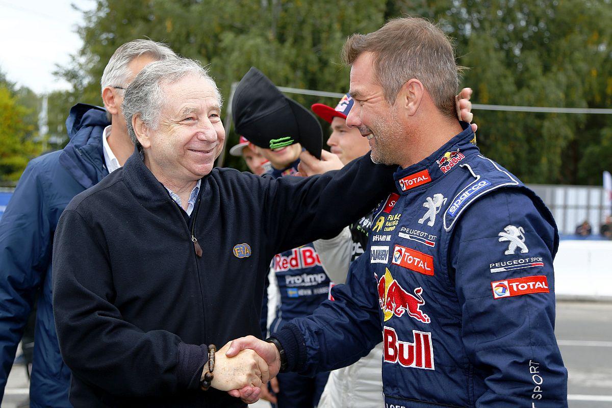 FIA-Präsident Jean Todt und Peugeot-Fahrer Sébastien Loeb können sich E-Rallycross vorstellen. Bild: FIAWorldRallycross.com
