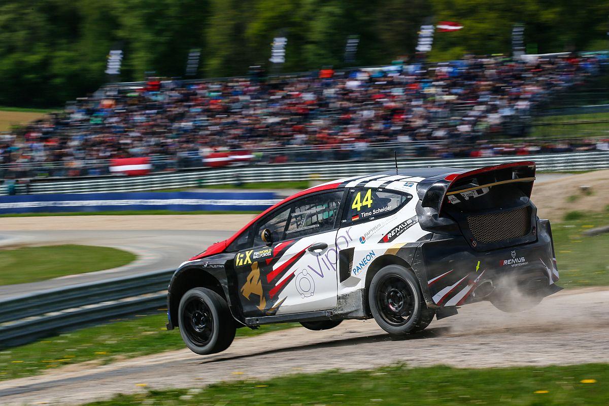 Timo Scheider in Belgien 2017. Bild: WordlRallycross.com
