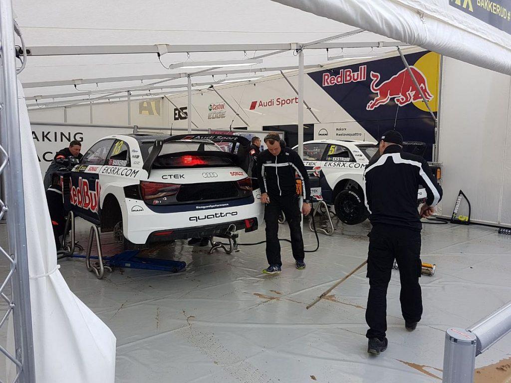 Bei EKS Audi Sport hoffen sie, dass die Updates aus der Sommerpause fruchten. Bild: Marco