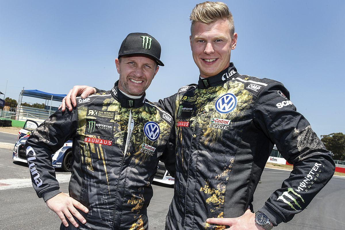 Gehen auch in dieser Saison als Favoriten in die Saison: Petter Solberg und Johan Kristofferson