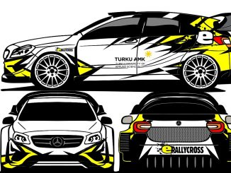 Der eRallycross Mercedes aus Turku. Bild: Turku University of Applied Sciences
