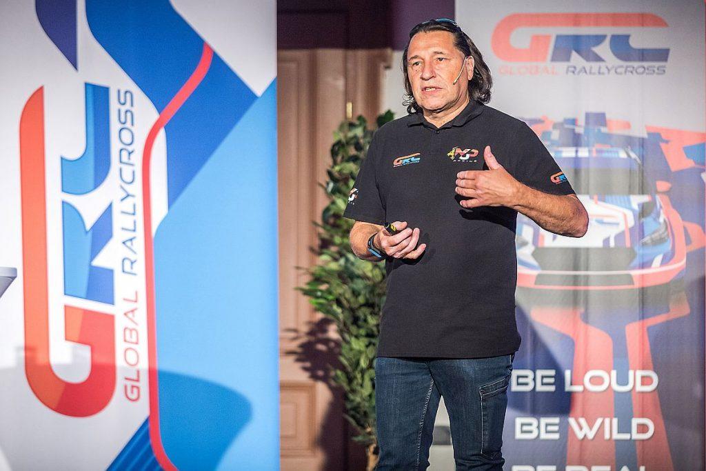 Max J. Pucher bei der Präsentation der GRC Europe. Bild: © Houdek